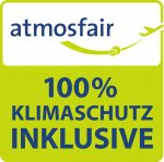 atmosfair 100% Komepensation