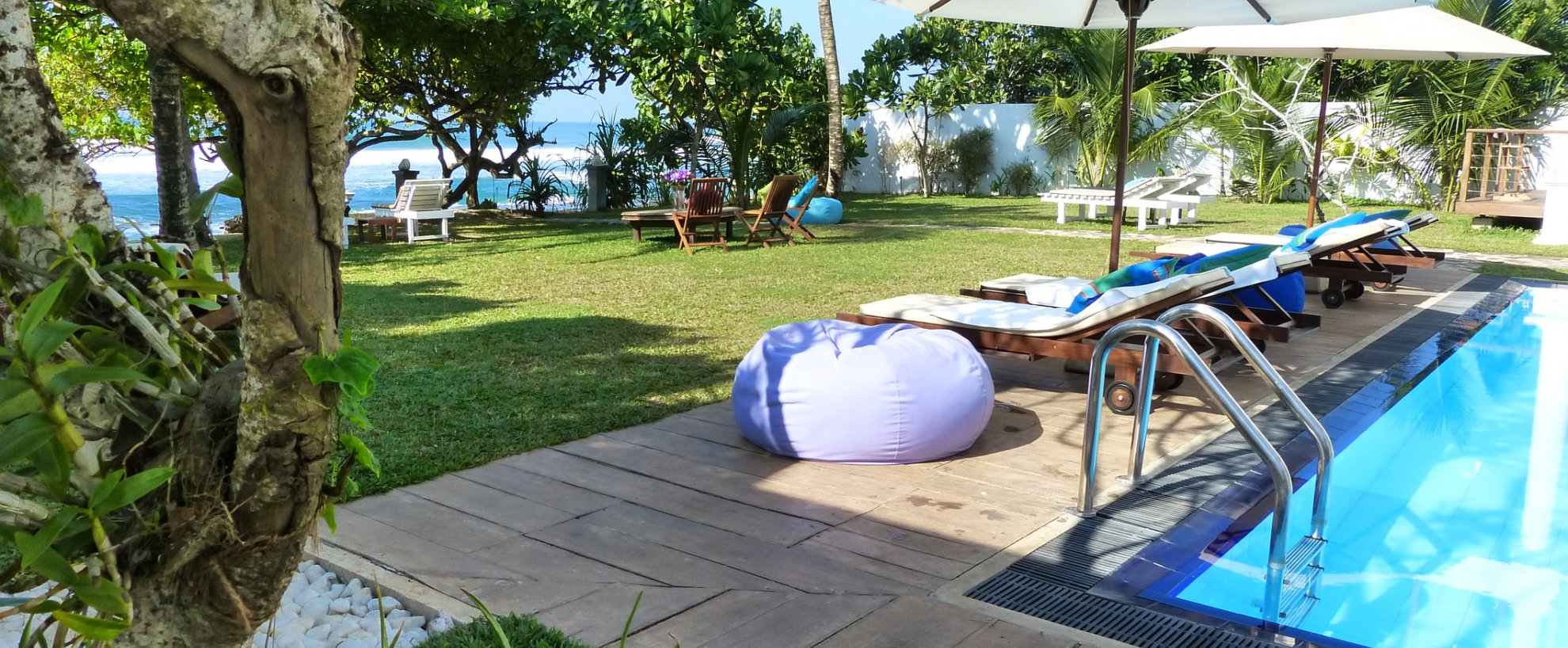 Sri Lanka Sithnara Ayurveda Resort Anlage Kuren Strand Pool Swimmingpool