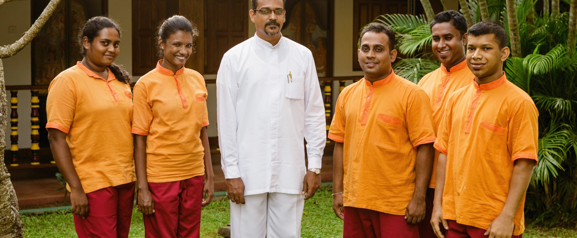 Sri Lanka Thaulle Resort Ayurveda Team
