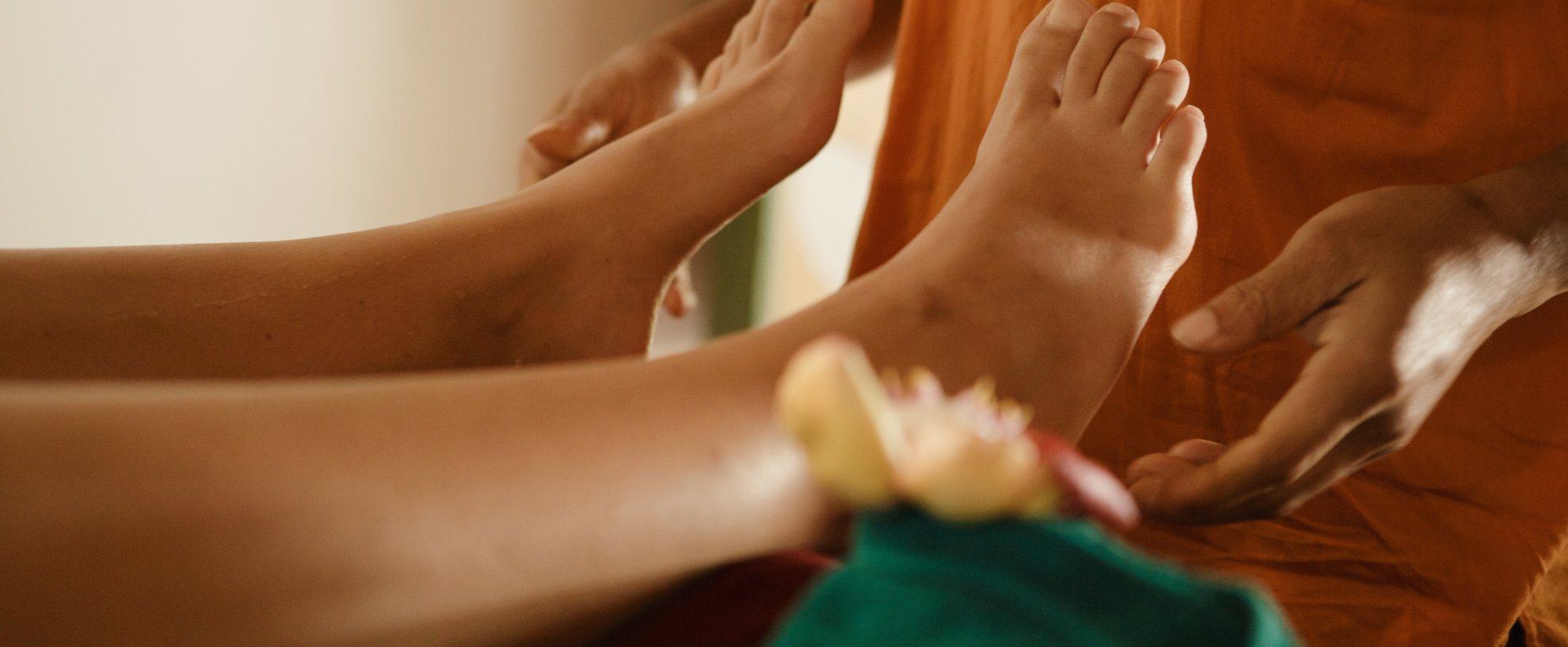 Sri Lanka Thaulle Resort Ayurveda Massage Fuß