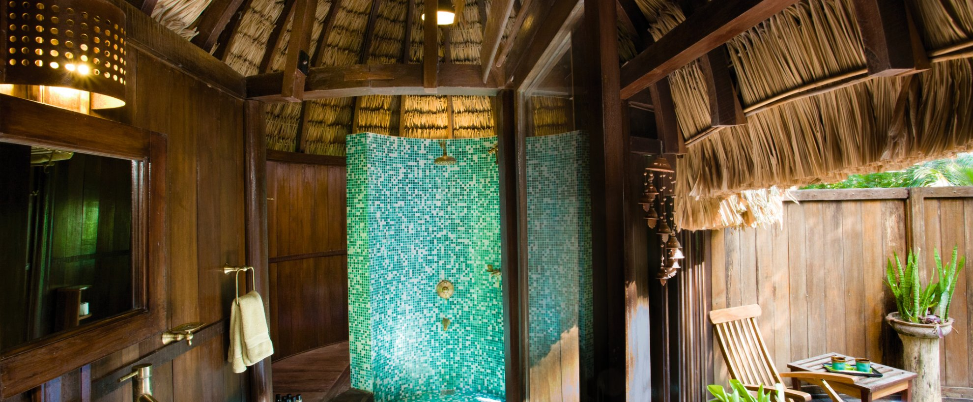 Ayurveda Kuren Indien Südindien Andamanen Andaman Nicobar Islands Island Havelock Barefoot at Havelock Zimmer Cottages Badezimmer