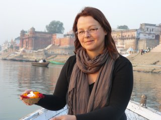 Angelika Sturtz in Varanasi