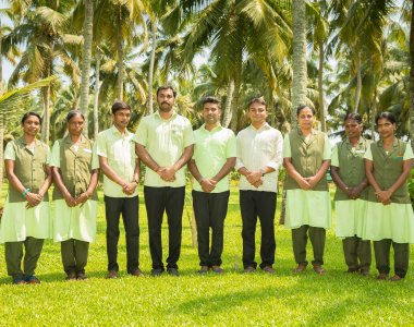 Ayurveda Kur Indien Kerala Sitaram Beach Retreat Team