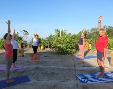 Sri Lanka Barberyn Beach Resort Yoga mit Gabriele Heigl