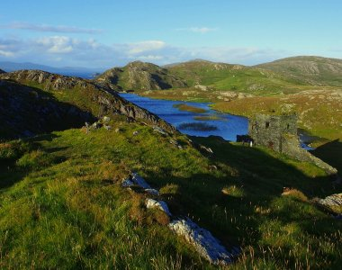 Irland West Cork Douce Mountain Farm Landschaft