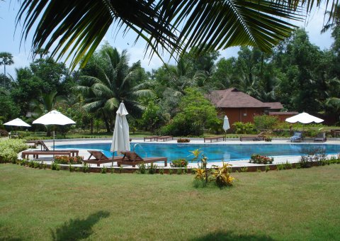 Einer der Pools im Poovar Island Resort in Kerala