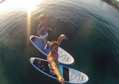 Selfie beim Stand Up Paddling (SUP)