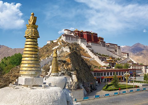 Potala Palast in Lhasa