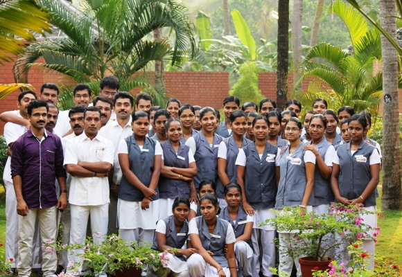 Indien Süd Kerala Nattika Beach Resort Therapeuten Team
