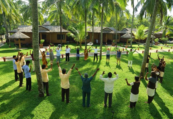 Yoga Indien Kerala Sitaram Beach Retreat