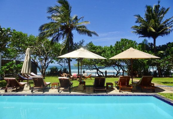 Sri Lanka Sithnara Ayurveda Resort Pool Garten Kathrin Lochmann 2017 Pool Swimmingpool