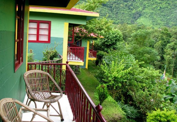 Indien Rundreise Nordindien Anandlok Resort  Rishikesh Bungalow
