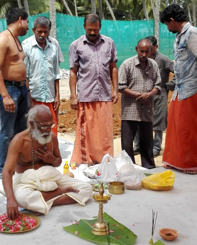 Traditionelle Puja im Sitaram