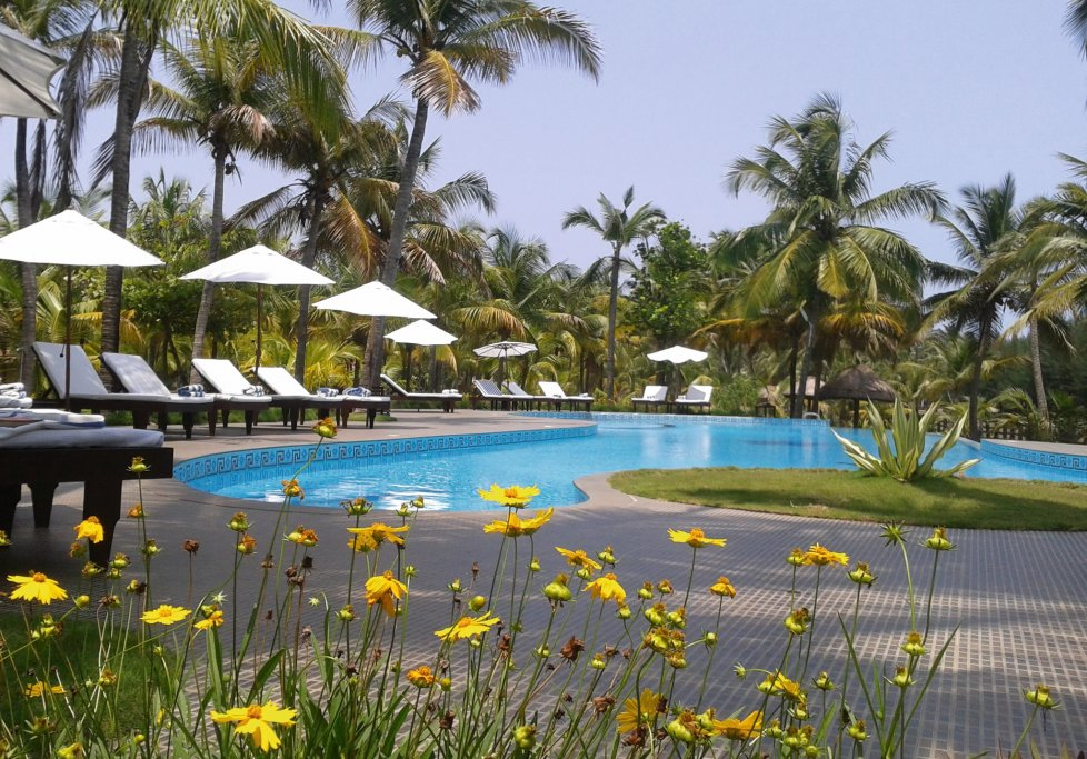 Indien Süd Kerala Nattika Beach Resort Pool