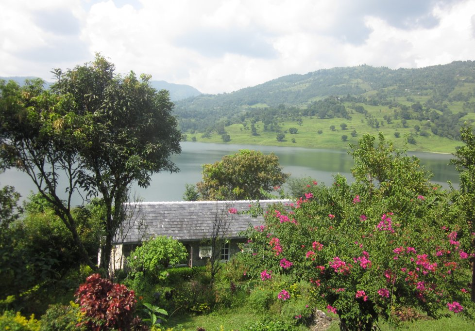 Nepal Begnas Lake Resort Landschaft