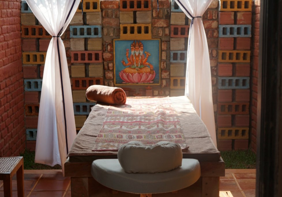 Ayurvie Sigiriya Massage Behandlungsraum